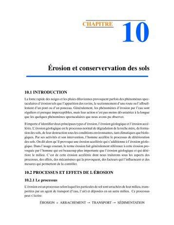 Ch-10 Érosion et conservation des sols - Université Laval