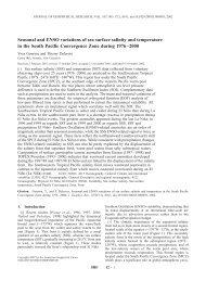 Seasonal and ENSO variations of sea surface salinity and ... - LEGOS
