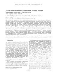 El Nin˜o––Southern Oscillation––related salinity variations ... - LEGOS