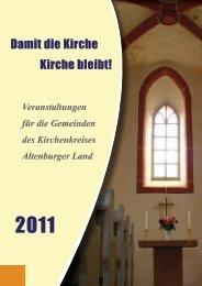 Damit die Kirche Kirche bleibt! - Kirchgemeinde Altenburg