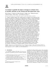 An attempt to quantify the impact of changes in wetland ... - LEGOS
