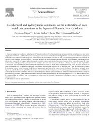 Geochemical and hydrodynamic constraints on the ... - LEGOS