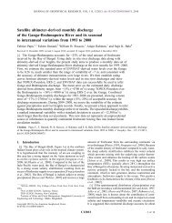 Satellite altimeter‐derived monthly discharge of the Ganga ... - LEGOS