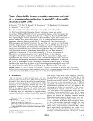 Modes of covariability between sea surface temperature and wind ...