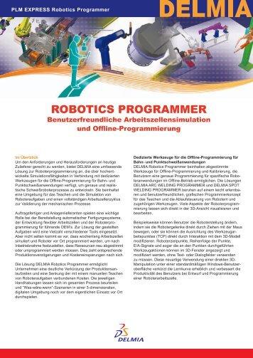 DELMIA Robotics Programmer