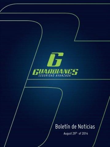 Boletín informativo de seguridad Guardianes del 29-08-2014