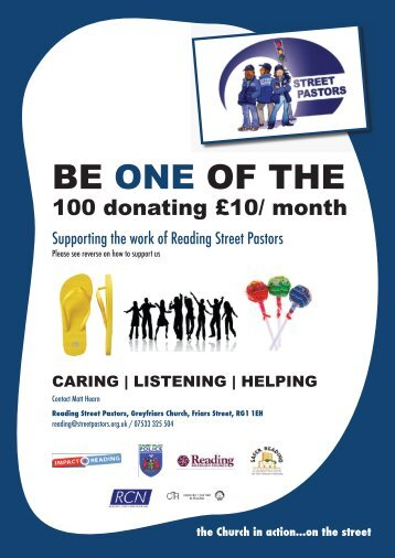 BE ONE OF THE - Street Pastors