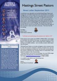 Newsletter Sept 11 - Street Pastors
