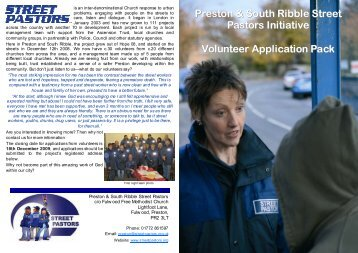 Volunteer Application Pack.pub - Street Pastors