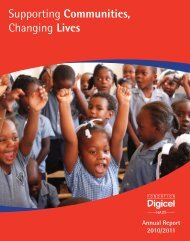 Annual Report 2010-2011 (PDF) - Digicel Foundation Haiti