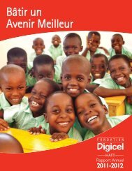 Digicel Foundation_Haiti Annual Report 2011-2012.indd