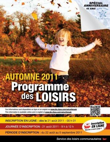 Programme automne 2011 - Shannon