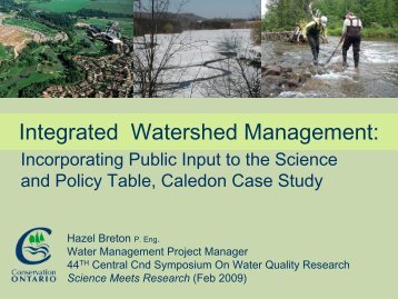 Integrated Watershed Management: - The Canadian Association on ...