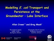Modelling E. coli Transport and Persistence at the Groundwater