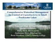 Comprehensive Watershed Management for Control of ...