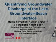 Quantifying Groundwater Discharge at the Lake-Groundwater ...