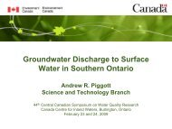 Groundwater Discharge to Surface Water in Southern Ontario