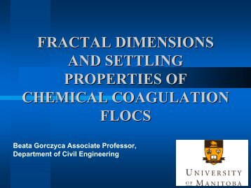 Fractal dimensions and settling properties of chemical coagulation ...