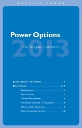 2013 Direct Access information booklet - Pacific Power