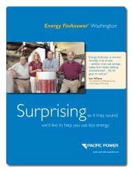 Energy FinAnswer brochure - Pacific Power
