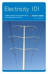 Electricity 101 booklet (PP1003) - Pacific Power