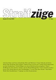 Streifz ge_30 - Streifzüge