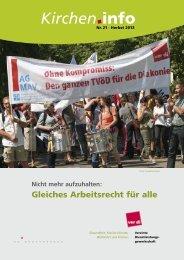 Kircheninfo Nr. 21 - Streikrecht ist Grundrecht