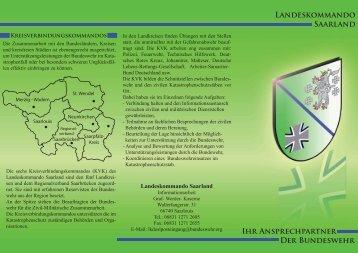 Flyer Landeskommando Saarland ( PDF , 4,8 MB)