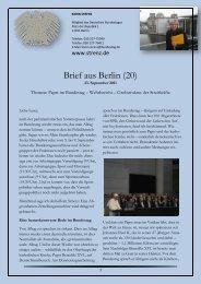 Brief aus Berlin (20) vom 23. September 2011 - Karin Strenz