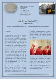 Brief aus Berlin (41) vom 14. September 2012 - Karin Strenz