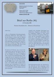 Brief aus Berlin (46) vom 23. November 2012 - Karin Strenz