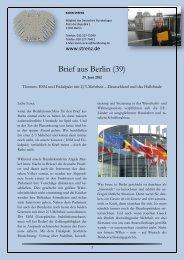 Brief aus Berlin (39) - Karin Strenz