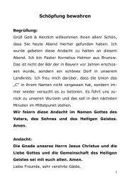 Andacht von Pastor Kornelius Holmer