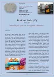 Brief aus Berlin (53) vom 15. März 2013: 10 Jahre ... - Karin Strenz