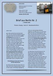 Brief aus Berlin (2) vom 1. Oktober 2010 - Karin Strenz