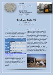 Brief aus Berlin (8) vom 28. Januar 2011: Isaf-Mandat ... - Karin Strenz