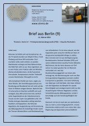 Brief aus Berlin (9) vom 11. Februar 2011: Hartz IV ... - Karin Strenz