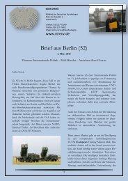 Brief aus Berlin (52) vom 1. März 2013: Internationale ... - Karin Strenz