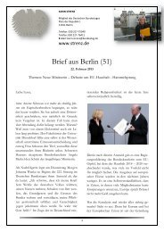 Brief aus Berlin (51) vom 22. Februar 2013: Neue ... - Karin Strenz