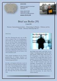 Brief aus Berlin (59) vom 14. Juni 2013 - Karin Strenz
