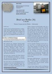 Brief aus Berlin (36) vom 11. Mai 2012: Europa nach ... - Karin Strenz