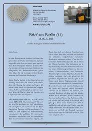 Brief aus Berlin (44) vom 26. Oktober 2012: Eine ganz ... - Karin Strenz