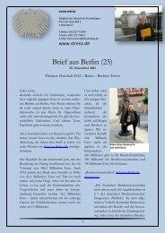 Brief aus Berlin (25) - Karin Strenz