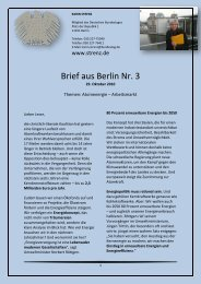 Brief aus Berlin (3) vom 29. Oktober 2010 - Karin Strenz