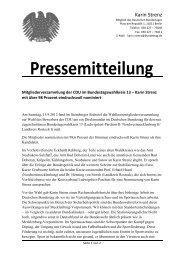 Mitgliederversammlung der CDU im ... - Karin Strenz