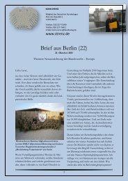 Brief aus Berlin (22) vom 21. Oktober 2011 - Karin Strenz