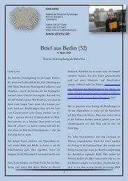 Brief aus Berlin (32) vom 9. März 2012: Gesetzgebung ... - Karin Strenz