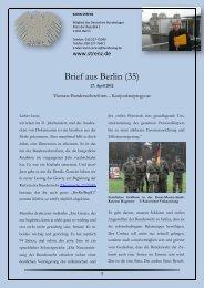 Brief aus Berlin (35) vom 27. April 2012 - Karin Strenz