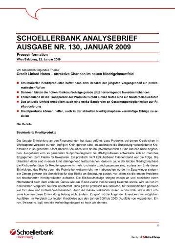 SCHOELLERBANK ANALYSEBRIEF AUSGABE NR. 130, JANUAR ...
