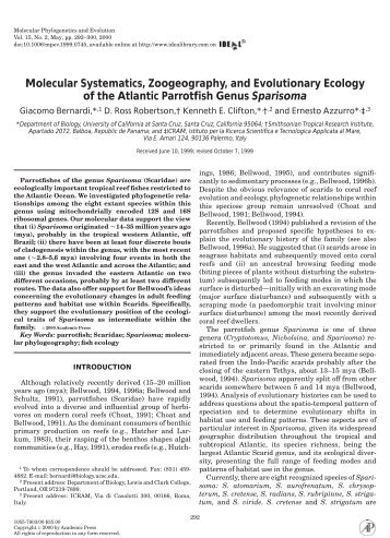 Molecular Systematics, Zoogeography, and ... - ResearchGate